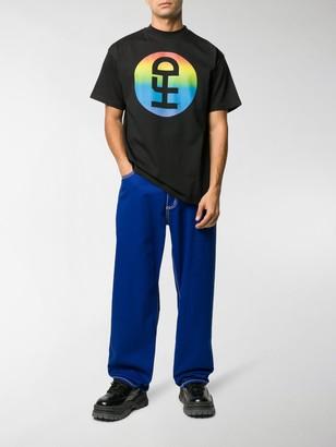 Honey Fucking Dijon rainbow logo print T-shirt