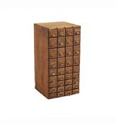 Rejuvenation Tabletop File Card Cabinet