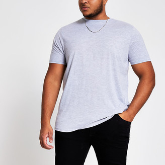 River Island Big and Tall grey regular fit T-shirt