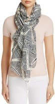 Aqua Beaded Abstract Scarf - 100% Exclusive