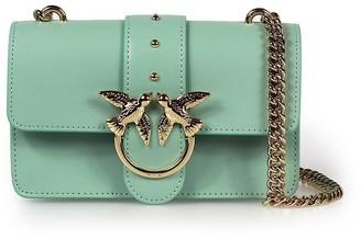 Pinko Love Mini Simply Aqua Green Crossbody Bag