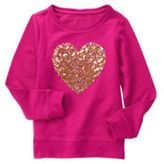 Crazy 8 Sparkle Heart Pullover