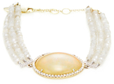 Meira T 14K Yellow Gold, 0.44 Total Ct. Diamond & Ethiopian Opal Bracelet