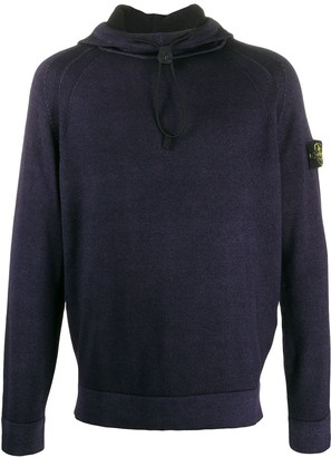 Stone Island knitted compass badge hoodie