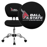 Flash Furniture Ball State University Cardinals Embroidered Mesh Task Chair with Chrome Base