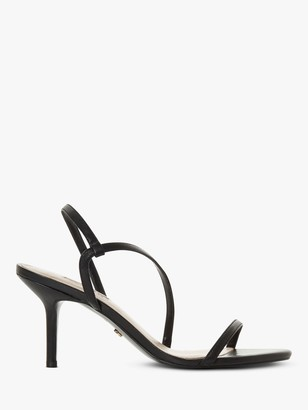 Dune Mojo Leather Asymmetric Strap Slingback Sandals