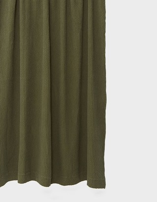 Hawkins New York Simple Waffle Shower Curtain in Olive