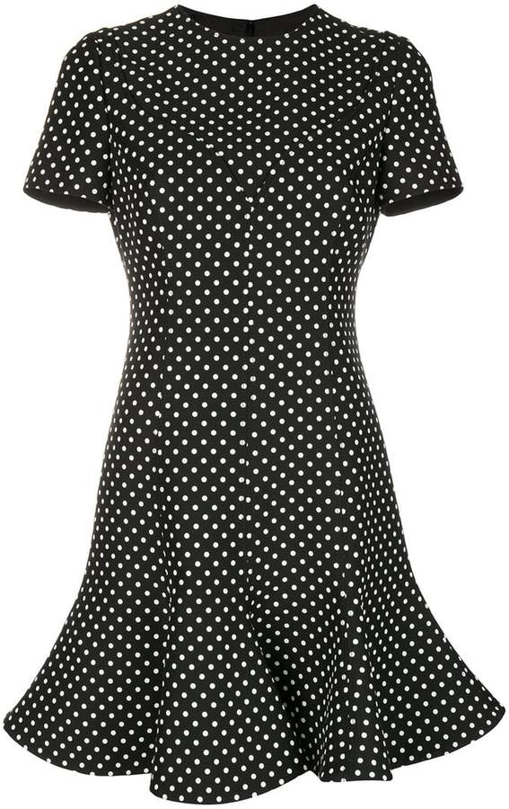 Valentino polka dot print dress
