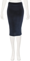 RON HERMAN Velvet Pencil Skirt