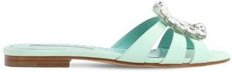 Manolo Blahnik 10mm Iluna Crepe De Chine Sandals