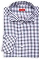 Isaia Slim Fit Check Dress Shirt