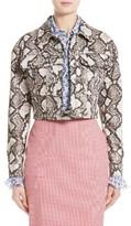 Altuzarra Women's Atoka Python Print Silk Jacket