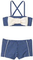 Hula Star Girls' Ocean Dot Bow Bandeau Two Piece Set (2yrs6yrs) - 8138127