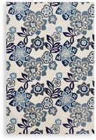 Trans-Ocean Floral Indoor/Outdoor Rug in Blue