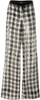 P.A.R.O.S.H. checked palazzo pants - women - Viscose/PVC - M