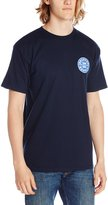 Brixton Men's Oath Short Sleeve Standard T-Shirt, Navy/White