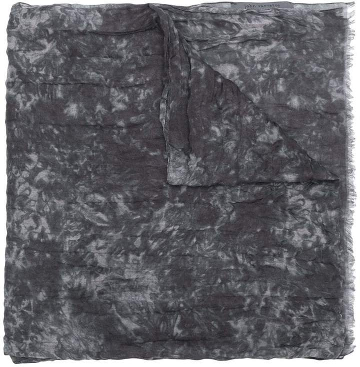 John Varvatos abstract pattern scarf
