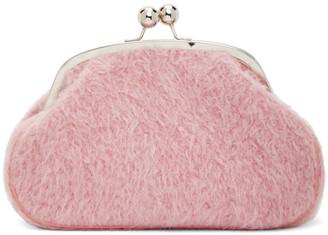 Marina Moscone Pink Alpaca Micro Coin Purse