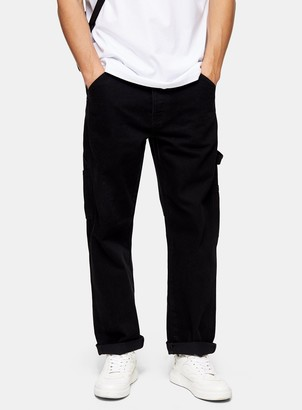 Topman Black Carpenter Jeans