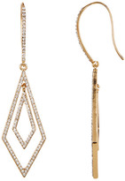 Natasha Accessories Double Diamond Crystal Orbital Earrings
