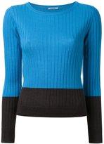 GUILD PRIME ribbed colour block jumper - women - Lambs Wool/Acrylic - 34