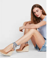 Express closed toe espadrille wedge sandals
