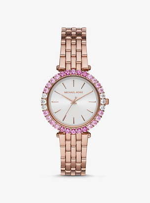 Michael Kors Darci Ombre Pave Rose Gold-Tone Watch - Rose Gold