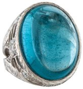 Loree Rodkin 18K Aquamarine & Diamond Cocktail Ring