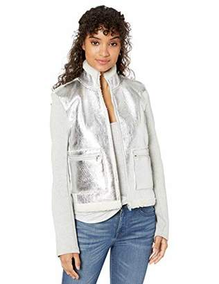 Majestic Filatures Women's Jacket with Metallic Front Pockets