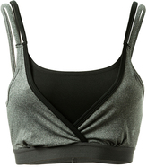 Therapy Gray & Black Layered Bralette