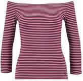 Superdry STRIPE BARDOT Long sleeved top egerie burgundy