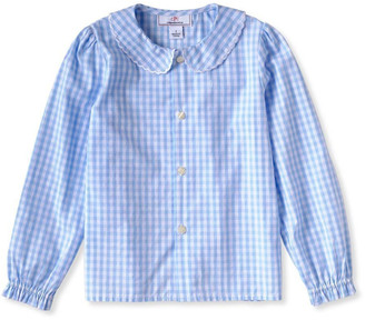 Classic Prep Childrenswear Girl's Westy Gingham Button-Down Shirt, Size 2-12