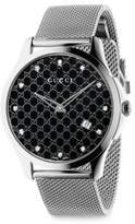 Gucci G-Timeless GG Dial Stainless Steel Watch