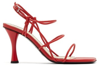 Proenza Schouler Square-toe Leather Sandals - Red