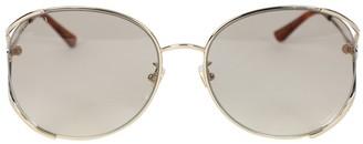 Gucci Oversized Round Light Grey Tint Sunglasses