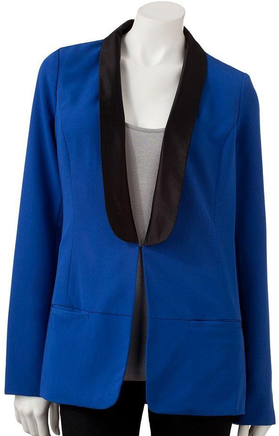 Rock & Republic colorblock tuxedo blazer