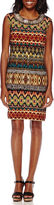 Studio 1 Sleeveless Tribal Sheath Dress