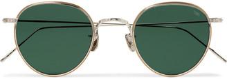 Eyevan 7285 Round-Frame Gold-Tone And Titanium Sunglasses