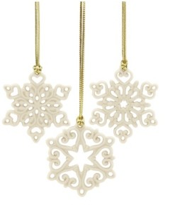Lenox Mini Snowflake 3-piece Ornament Set