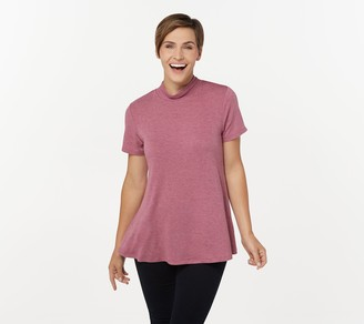 Lisa Rinna Collection Mock Neck Swing Top