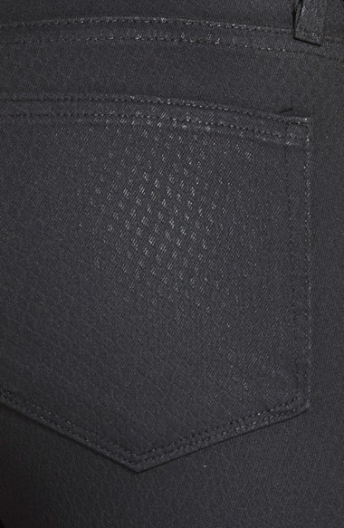 Paige 'Verdugo' Embossed Ultra Skinny Jeans (Embossed Black)