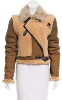 3.1 Phillip Lim Leather-Trimmed Shearling Jacket