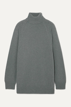 Dries Van Noten Tanner Knitted Turtleneck Sweater - Gray
