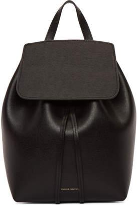Mansur Gavriel Black Mini Saffiano Leather Backpack