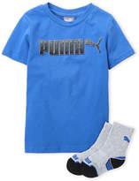 Puma Boys 4-7) Two-Piece Logo Tee & Crew Socks Set
