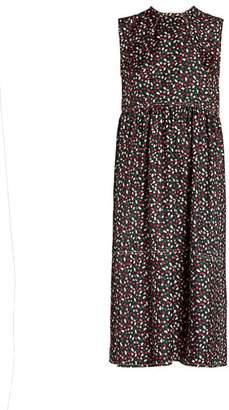 Marni Ditsy Floral Print Silk Midi Dress