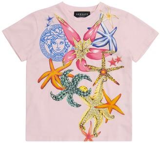 Versace Kids Printed stretch-cotton T-shirt