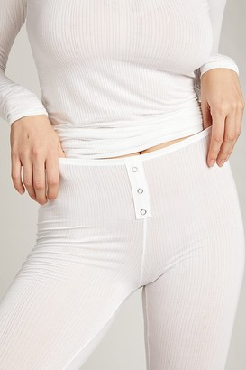 Negative Underwear Whipped Long Underwear in White