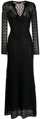Missoni Long-Sleeve Maxi Dress