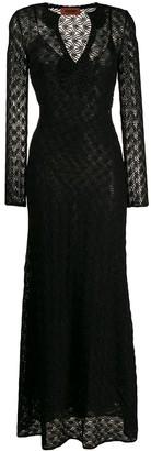 Missoni long-sleeve maxi dress